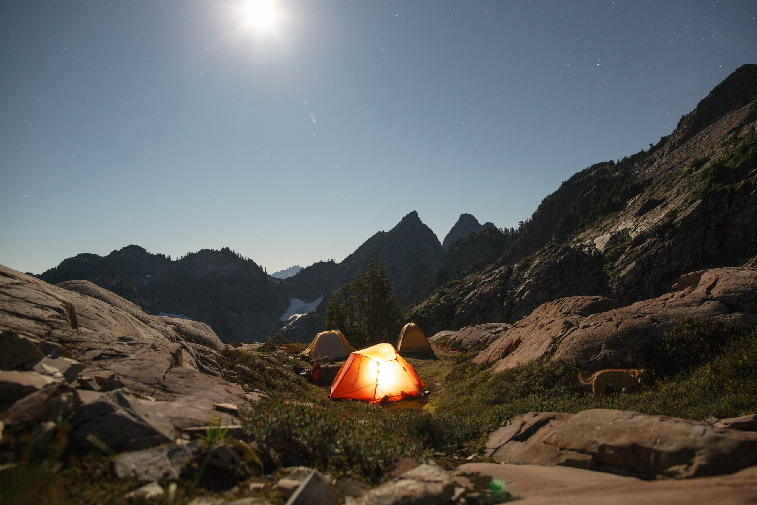 Tent in Gothic Basin