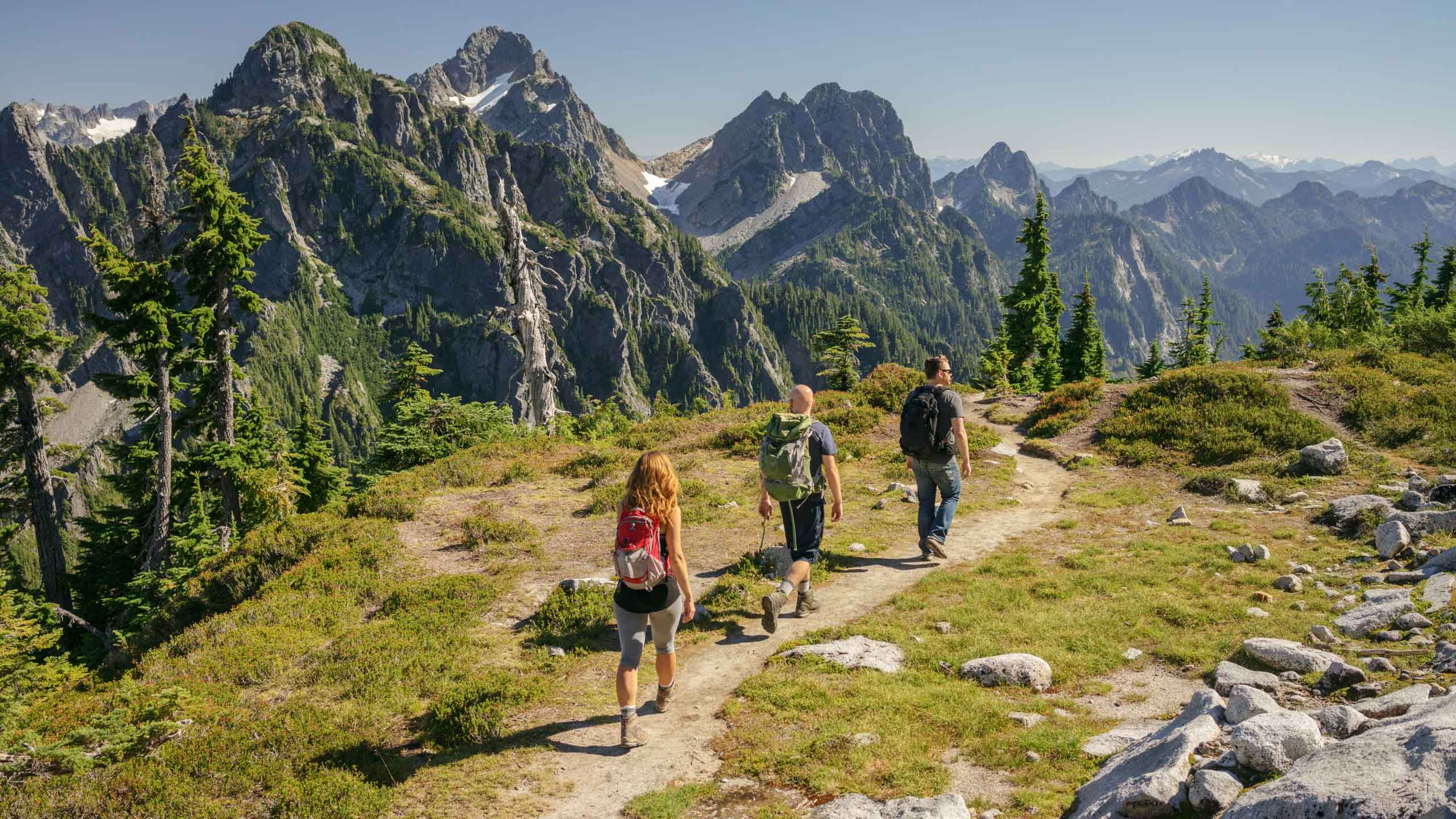 Backpackers in Northern Cascades