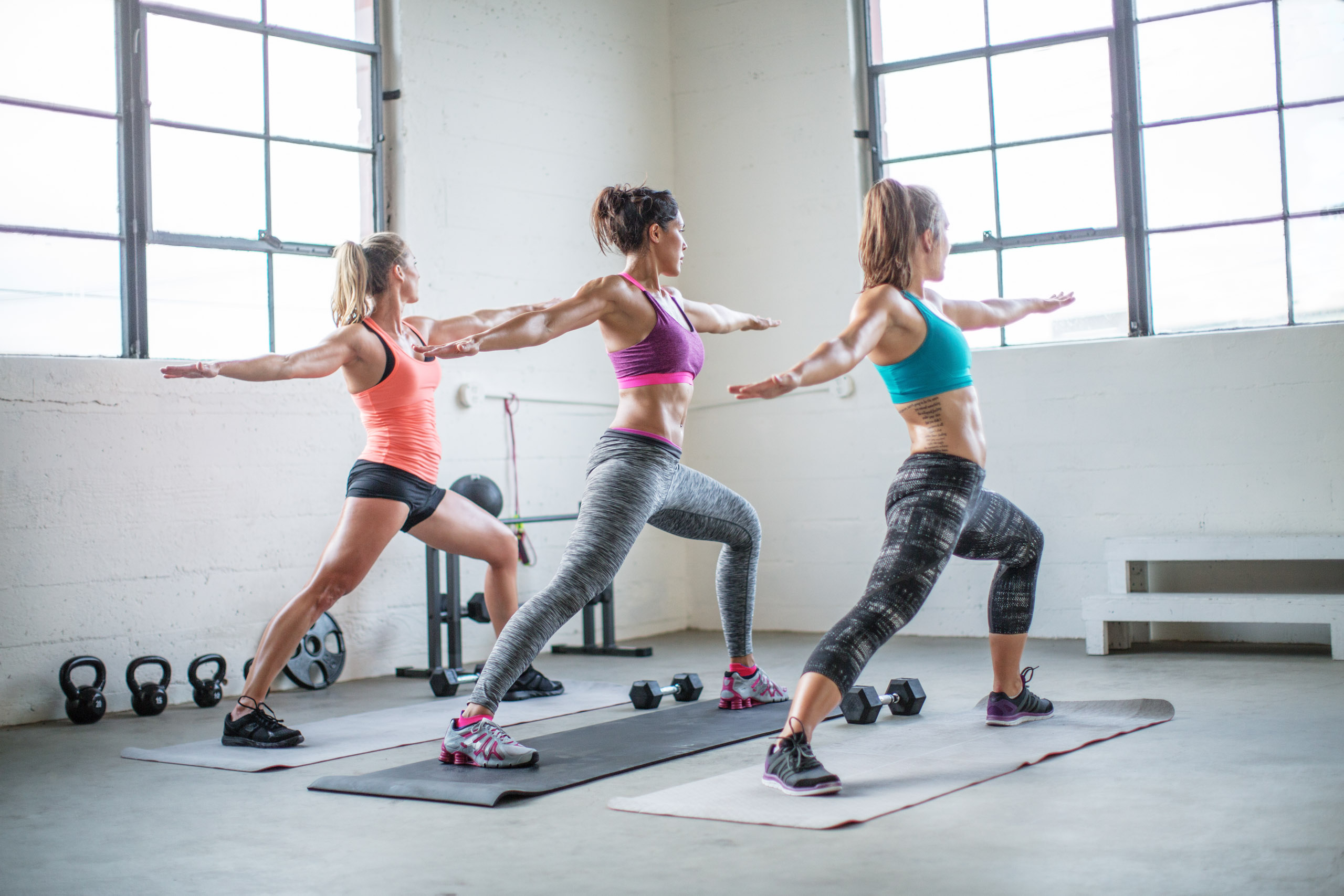 Three Women doing yoga pose