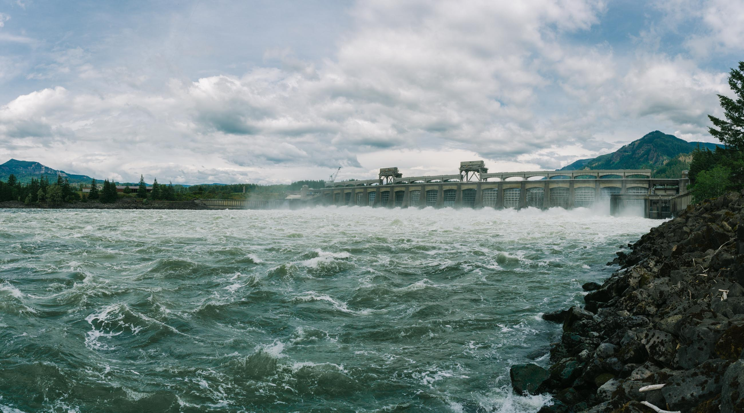 Bonneville Dam on the Columbia River