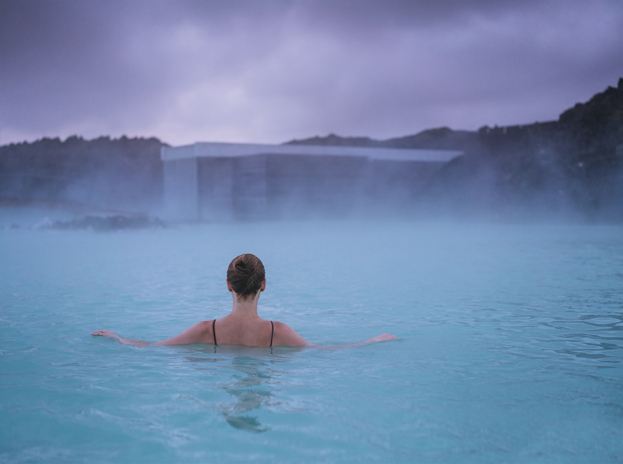 Woman in the Blue Lagoon