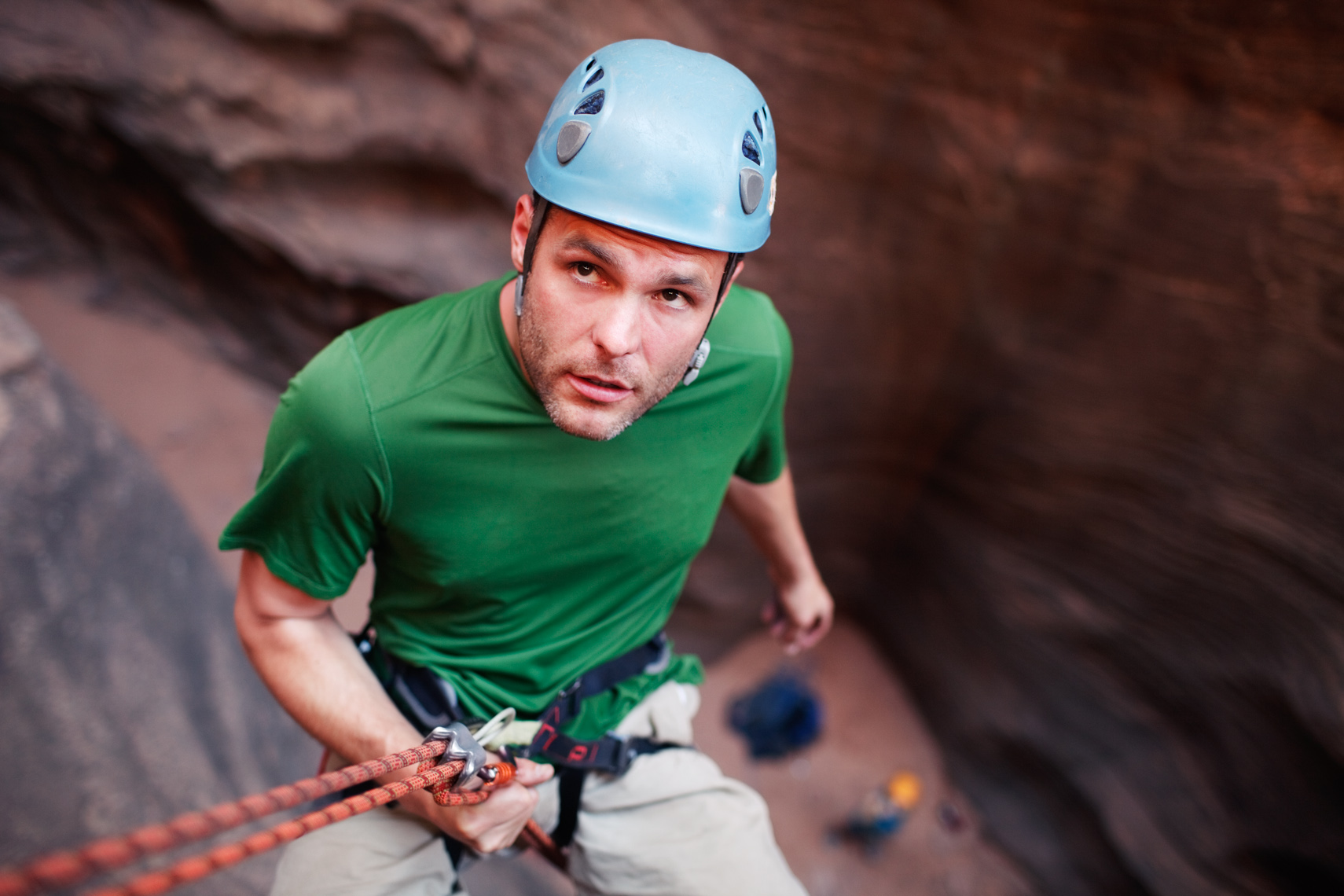 Repelling in Zion National Park
