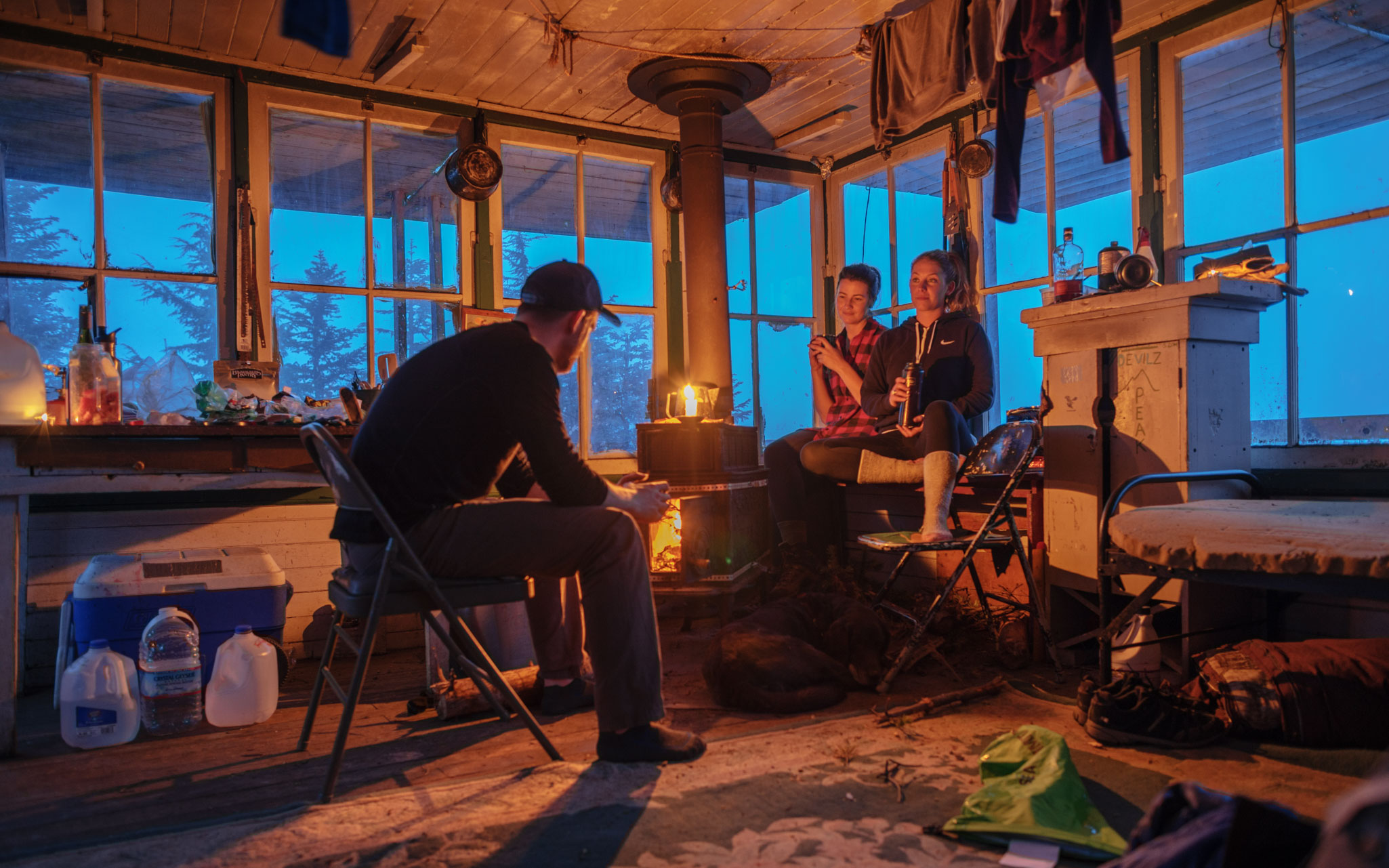 Evening in fire lookout