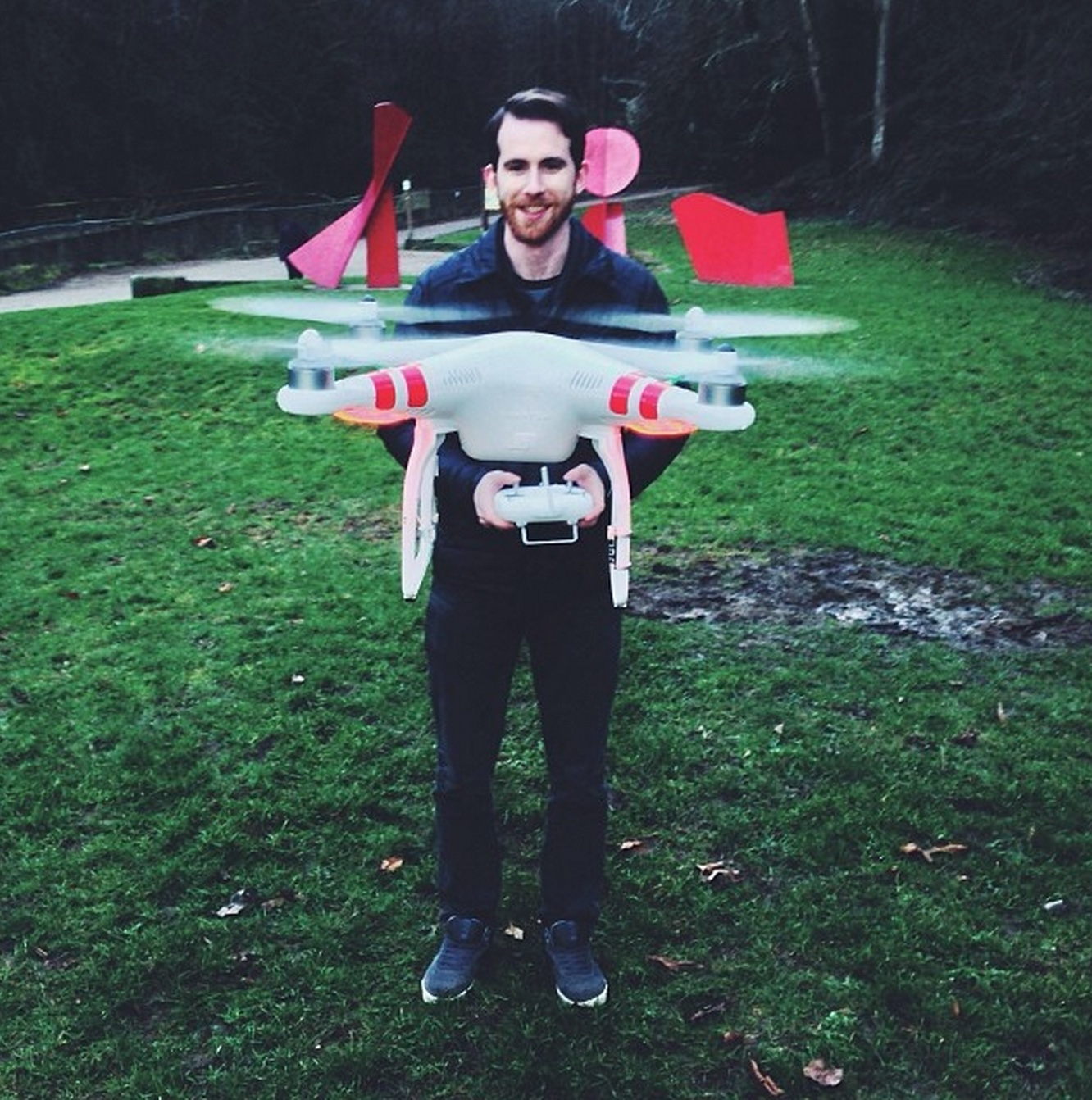 Flying quadcopters