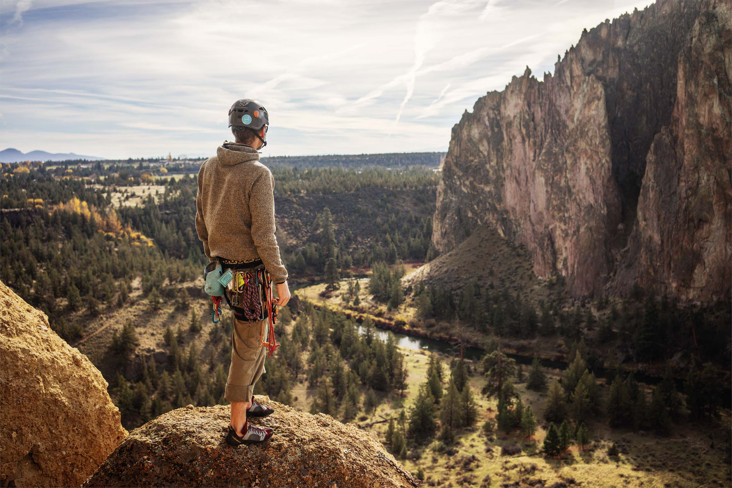 Rock Climber at Smith Rock